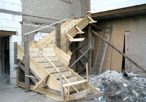 Šalování schodů